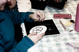 Two Needle Beading Class ( photo by Brooke Johnson)